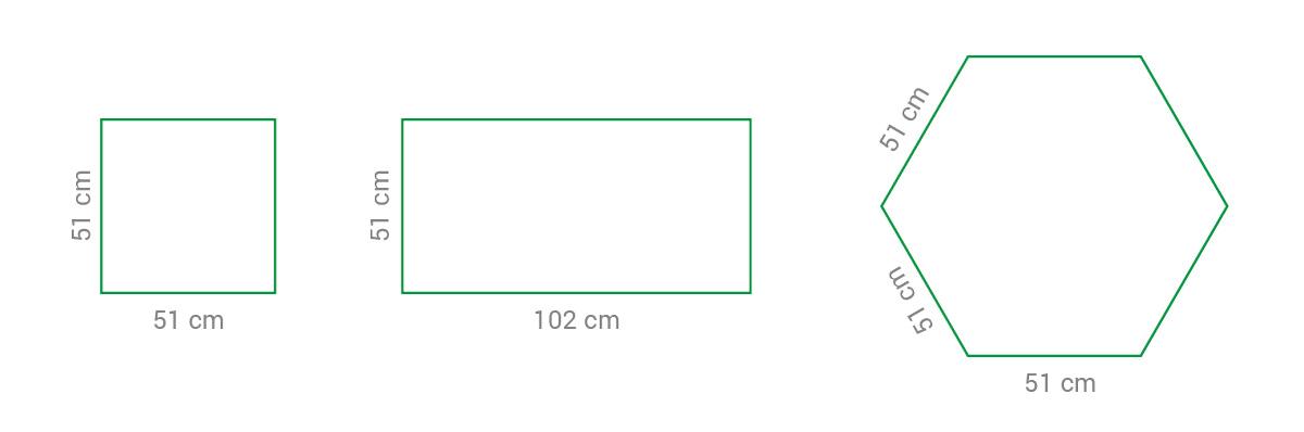 Kojec / płotek panelowy L - przykładowe sposoby montażu