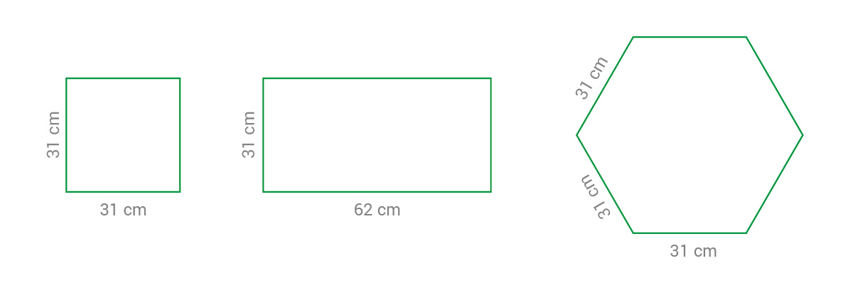 Kojec / płotek panelowy M - przykładowe sposoby montażu